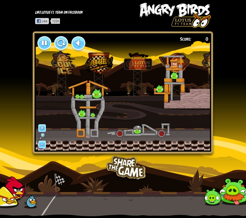 AngryBirds Lotus F1 攻略